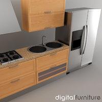 kitchen furniture dxf