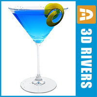 blue martini cocktail 3ds