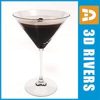 espresso martini 3d model