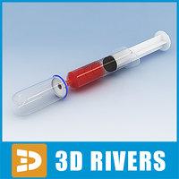 glass bulb syringe 3d model