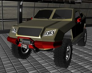stealth offroad concept 3d model