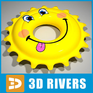 3ds max inflatable swim ring