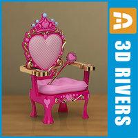 kid armchair furniture 3d model