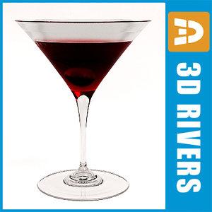 manhattan cocktail 3dr089 3d max