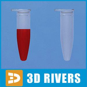 3d medical flask sample model