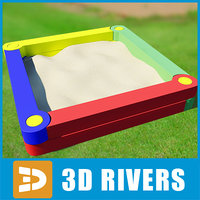 3d sandbox sand model