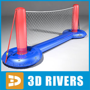 3dsmax swim volleyball