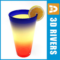 3d model tequila sunrise