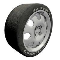 maya car wheel tires