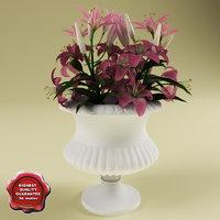 bouquet lilies 3d max
