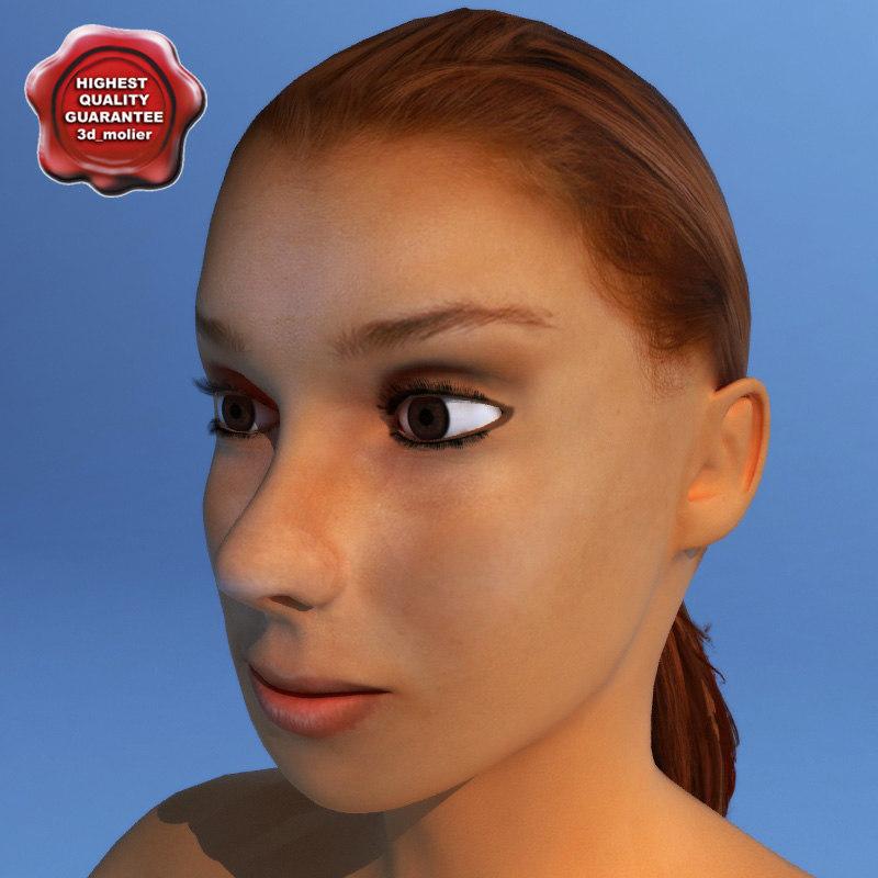 3ds max female human character dasha