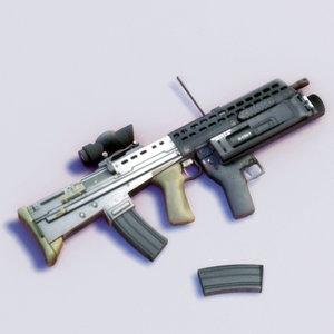 sa80a2 sa80 rifle gun 3d model