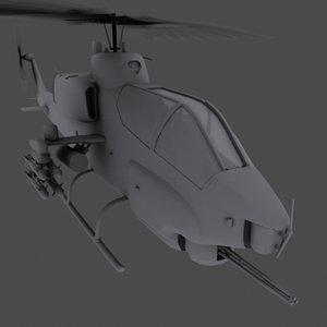 3d super cobra attack helicopter model