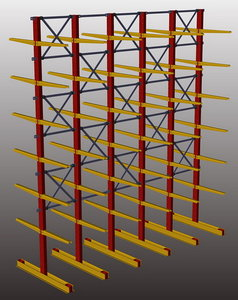 free storage cantilever 3d model