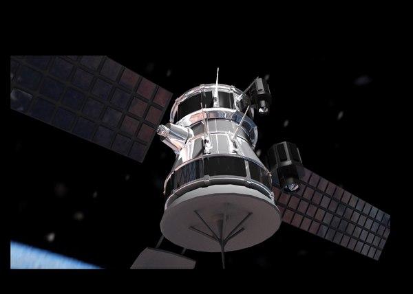 3d communication satellite model