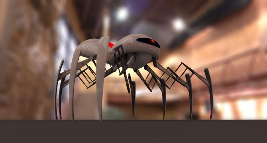 3d model robot spider arachnid