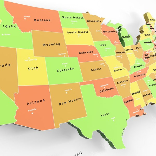 MAP.USA.States and Capitals