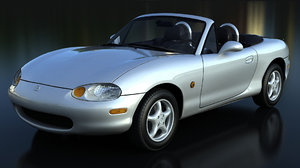 3D model mazda mx-5 nb interior