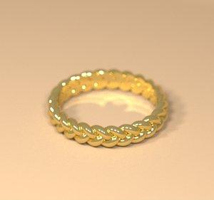 3d model woman celtic ring