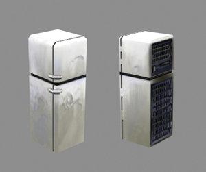 3d model fridge contain