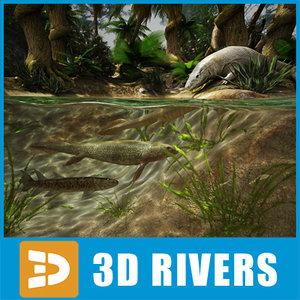 evolution scene 3d model