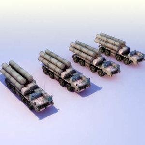 s-300pmu lods missile mod 3d 3ds