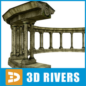 3d model ruined amphitheater