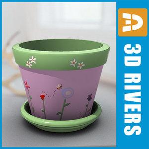 planter flowerpot 3ds
