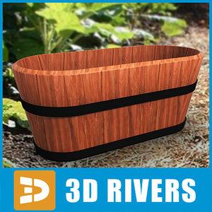 3d max planter flowerpot
