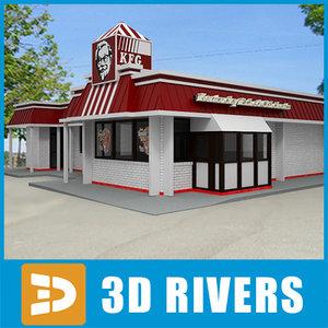3ds max fast food kfc