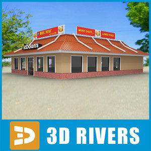 fast food mcdonald 3d model