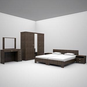 bed set bedroom 3d max