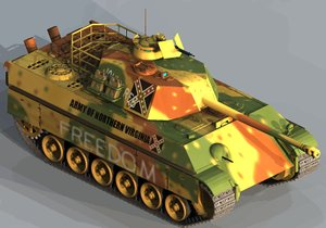 confederate medium tank 3d 3ds