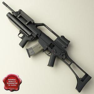 realistic grenade launcher 3d lwo
