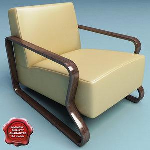 3d armchair v3 model