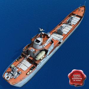 3ds max large landing ship saratov