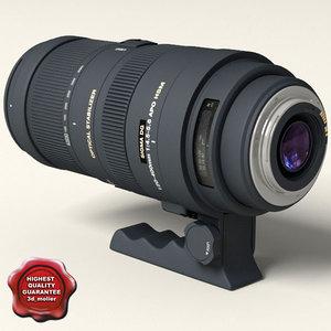 optical stabilizer sigma 80-400mm 3d model