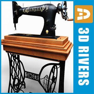 3d model foot singer sewing machine