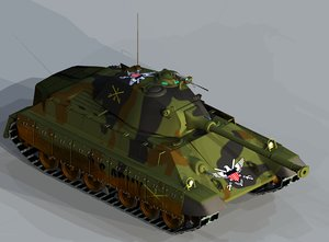 3ds army tank