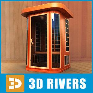 infrared sauna 3d model