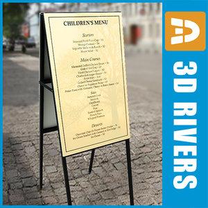 3ds max menu board