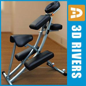 3d model portable massage chair