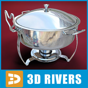 chafing dish 3d max