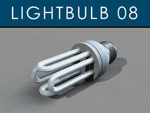 3d obj incandescent bulb