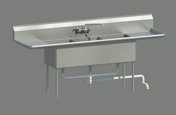 3 Compartment Sink Drain.3 Compartment Sink