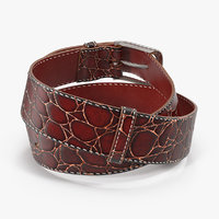 crocodile skin belt men 3D