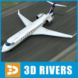 3d bombardier challenger 850
