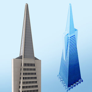 transamerica skyscraper san francisco 3d model
