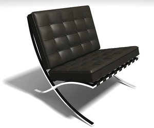 barcelona chair c4d