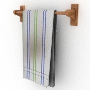 3ds towel bar